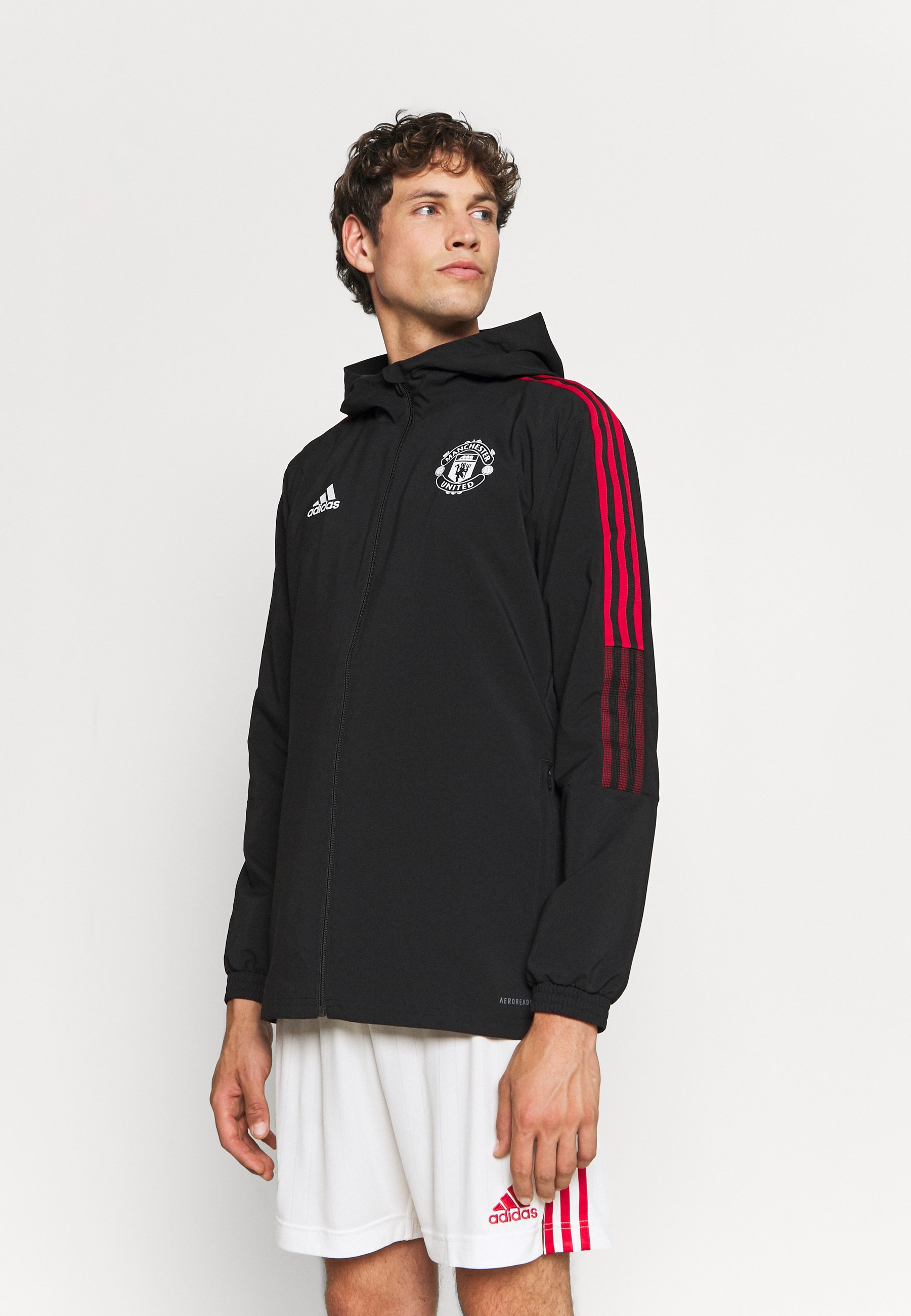 Homme MANCHESTER UNITED PRE JKT FOOTBALL AEROREADY TRACKSUIT JACKET - Article de supporter