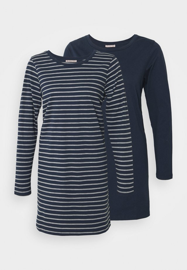 2 PACK - Pyjamashirt - dark grey