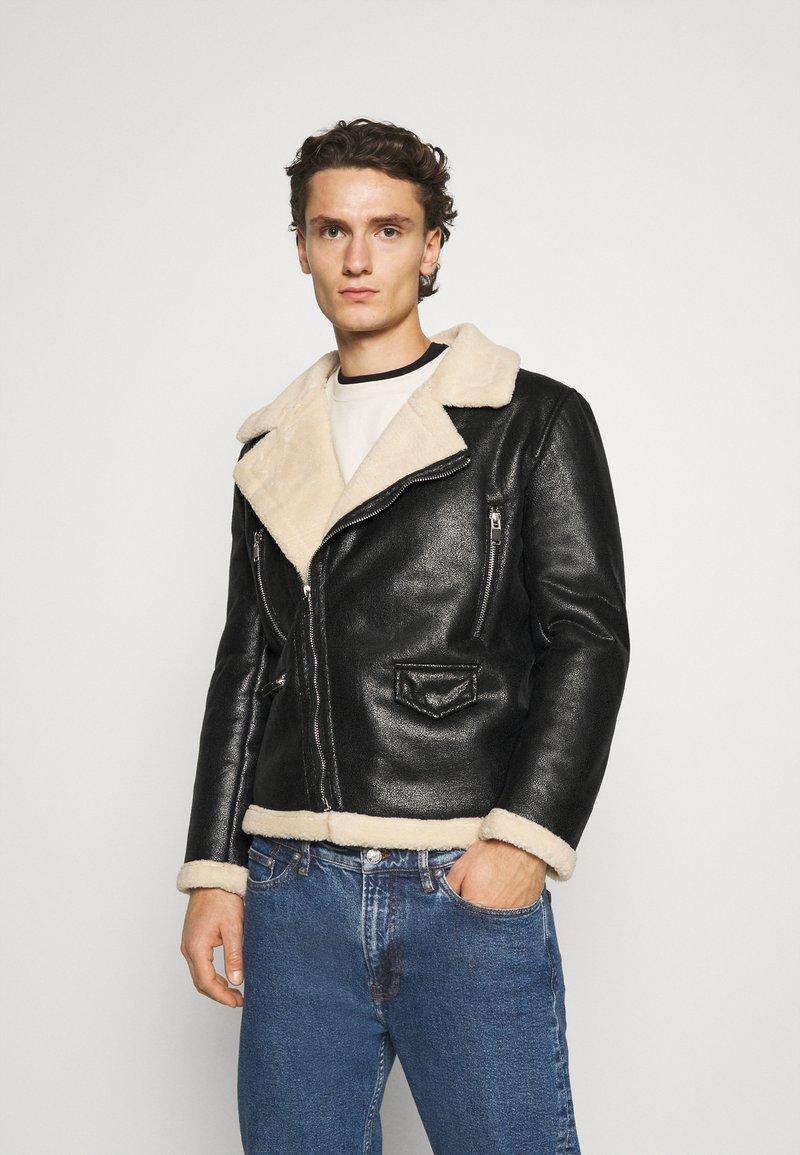 Sixth June - AVIATOR JACKET - Faux leather jacket - black