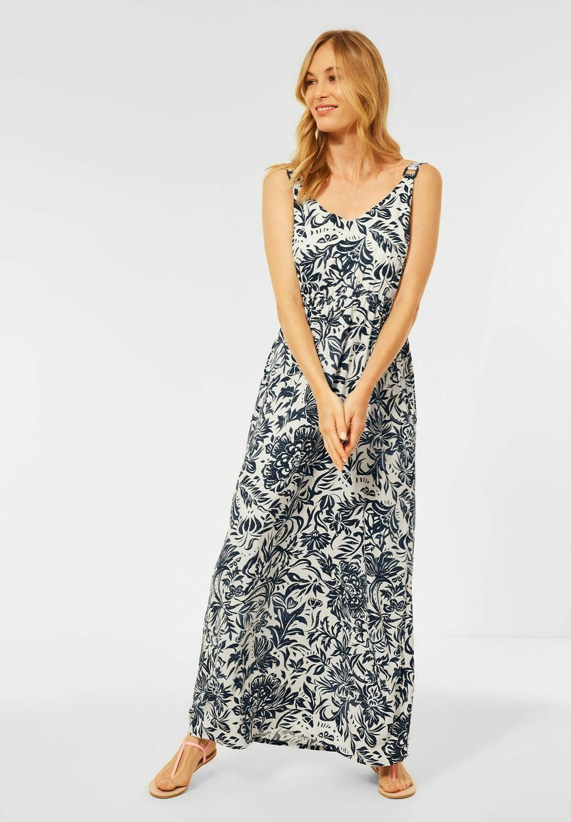 Cecil - MIT BLUMEN PRINT - Maxi dress - weiß
