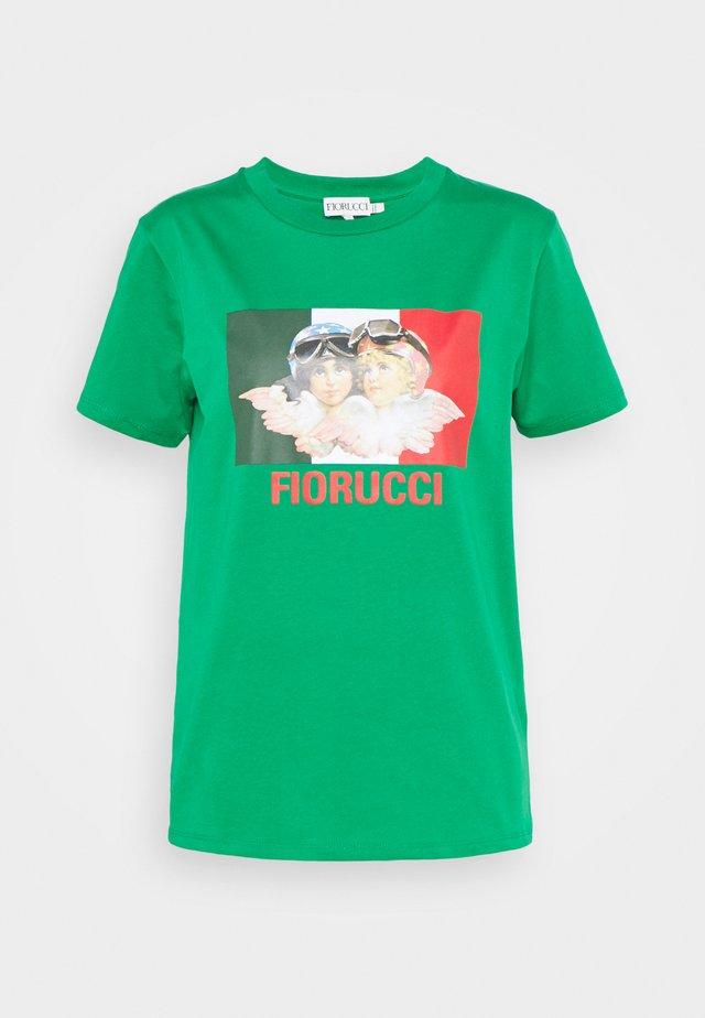 RACING ANGELS TEE - T-shirt imprimé - green