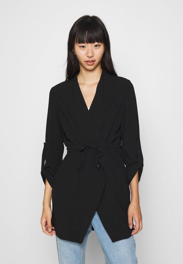 PCBELIA SHORT COATIGAN - Short coat - black