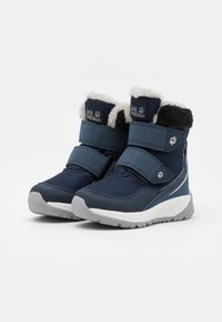 Jack Wolfskin - POLAR WOLF TEXAPORE MID VC UNISEX - Winter boots - dark blue/offwhite - 1