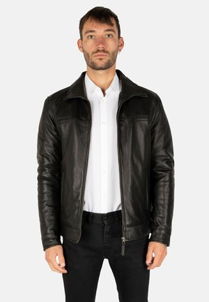 KENT  - Leather jacket - black