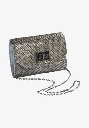 Across body bag - shiny silver