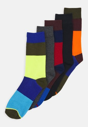 JACHAPPY BLOCK SOCK 5 PACK - Chaussettes - port royale/rifle green/surf the web