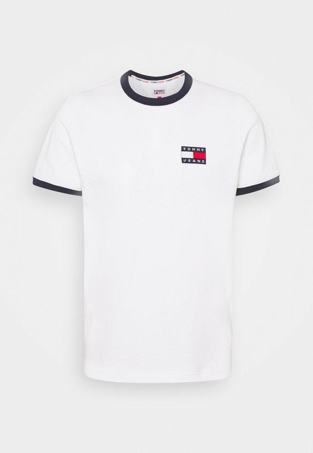 Print T-shirt - white/twilight navy