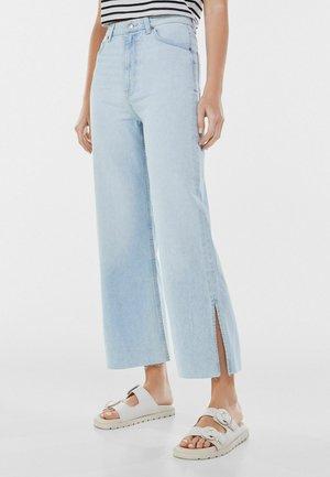 WIDE LEG - Flared jeans - blue denim