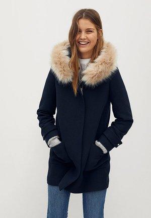 Vinterkåpe / -frakk - dunkles marineblau