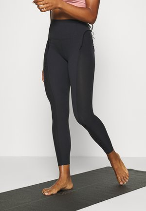 YOGA - Leggings - black/smoke grey