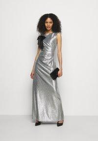 Lauren Ralph Lauren - LONG GOWN - Occasion wear - dark grey/silver - 1