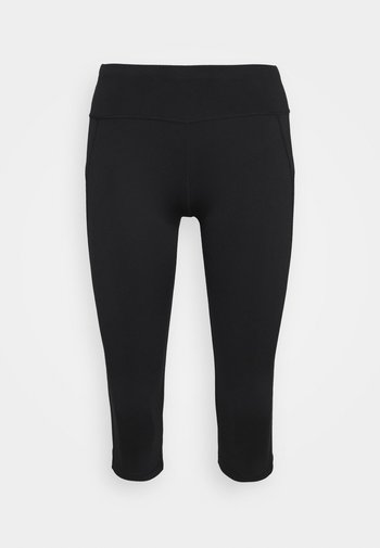 CONTOUR CAPRI WORKOUT LEGGINGS - 3/4 sports trousers - black