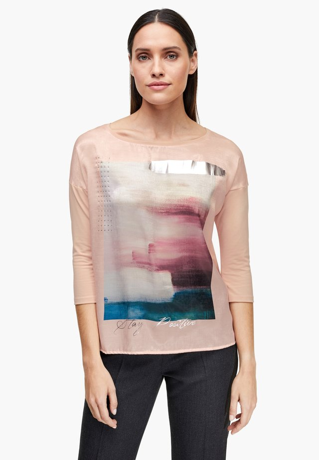 Long sleeved top - light pink placed print