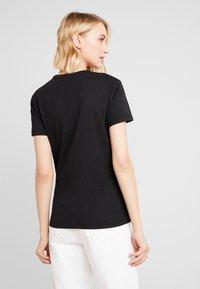 Calvin Klein Jeans - MONOGRAM SLIM RINGER TEE - Print T-shirt - black - 2