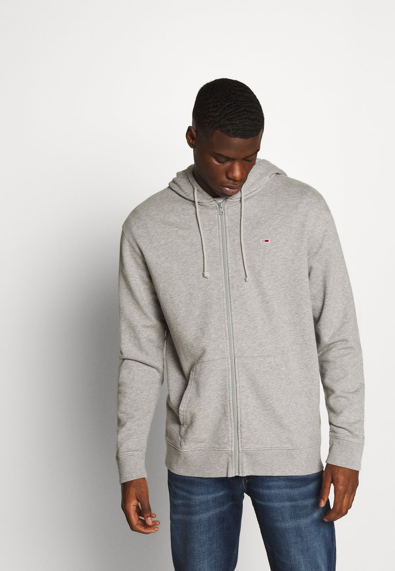Tommy Jeans - CLASSICS ZIPTHROUGH - veste en sweat zippée - grey