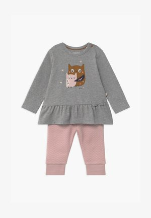 SET - Trousers - grey/light pink