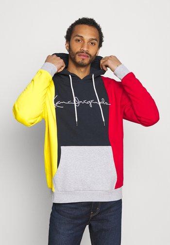 ORIGINALS BLOCK HOODIE - Sweatshirt - navy