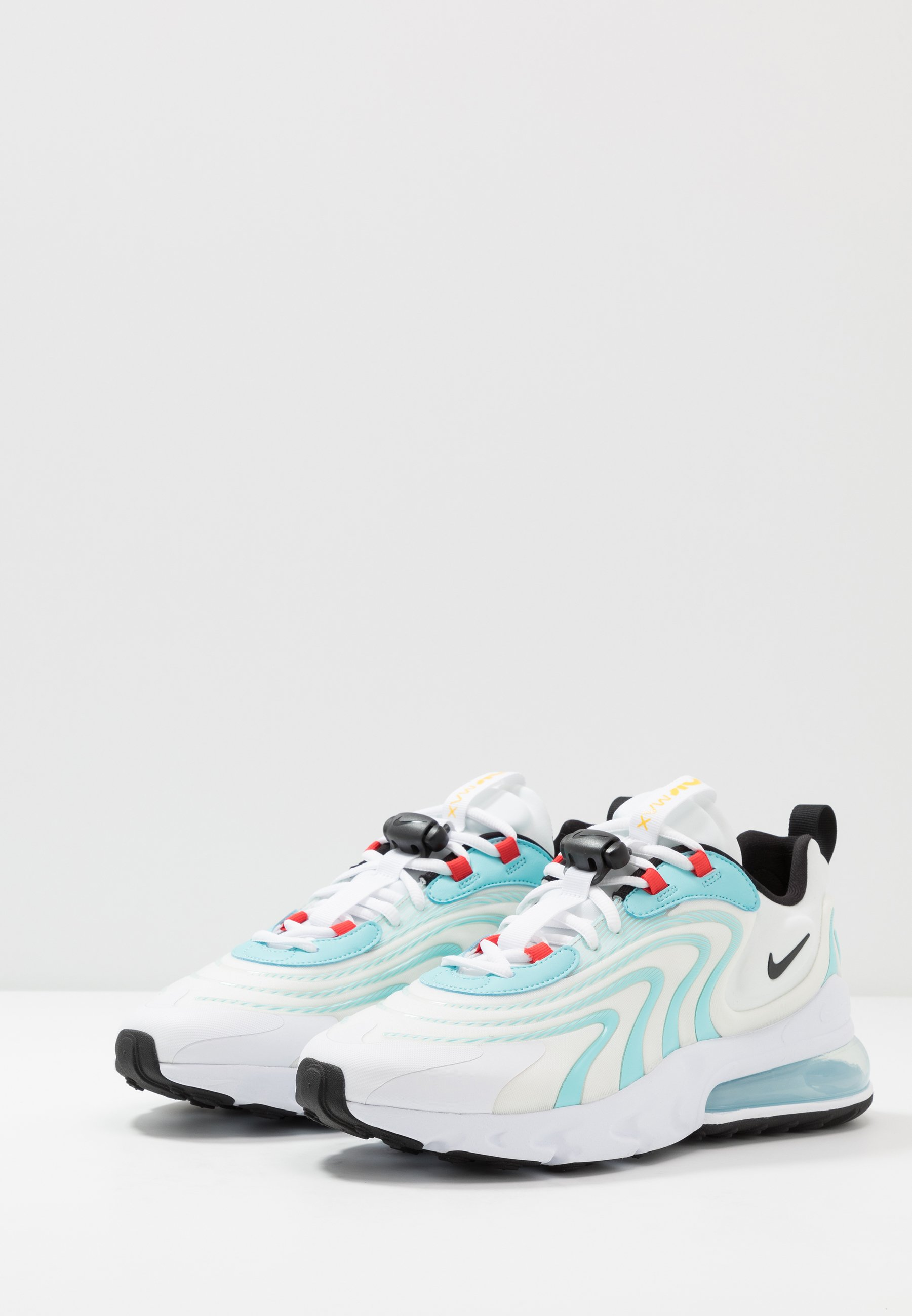 Nike Sportswear AIR MAX 270 REACT Sneakers white/black/bleached aqua/chile red/speed yellow