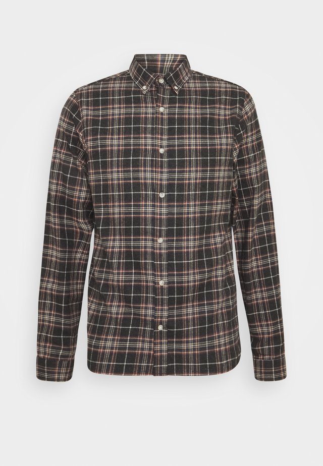 CHECKED - Shirt - darknavy