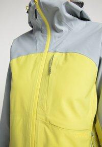 PYUA - Waterproof jacket - french grey - lemon yellow - 4