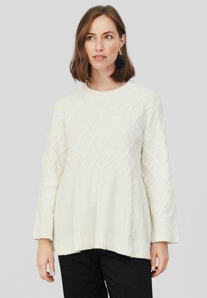 FRILLY - Stickad tröja - whitecap