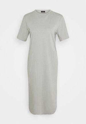 Basic midi Jerseykleid - Vestido ligero - grey