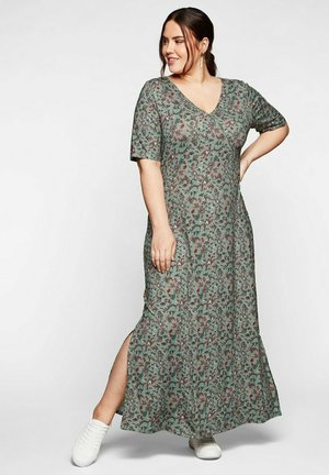 Maxi dress - eukalyptus bedruckt
