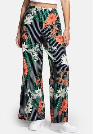 Spodnie materiałowe - pin striped floral