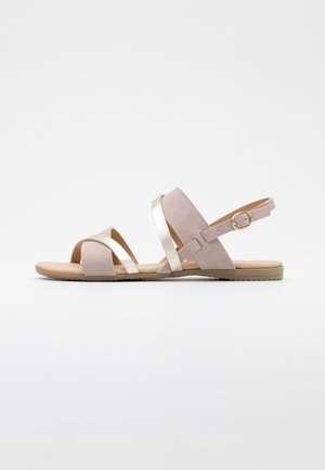 LEATHER - Sandals - nude/gold