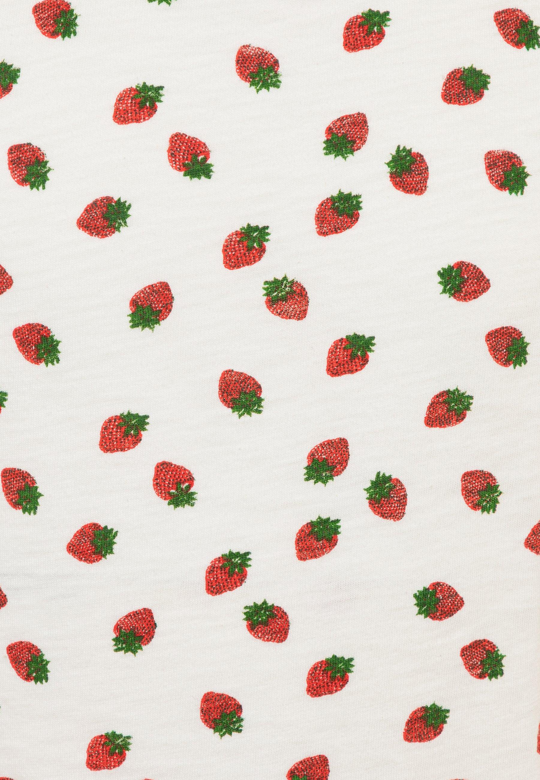 Große Förderung J.CREW STRAWBERRY GRAPHIC TEE - T-Shirt print - ivory/red | Damenbekleidung 2020