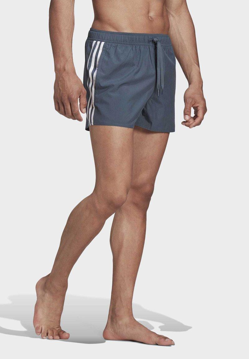 adidas Performance - STRIPES CLX SWIM SHORTS - Bañador - blue
