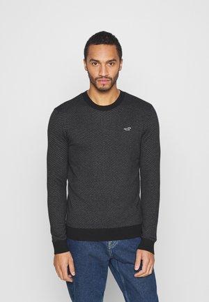 Pullover - black geo