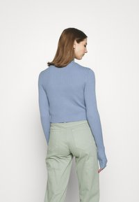 Monki - LISSA CARDIGAN - Cardigan - blue dusty light - 2