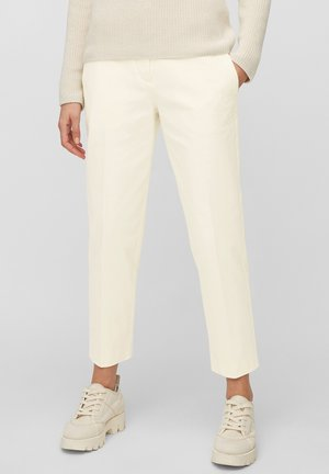 PANTS STRAIGHT LEG - Trousers - raw cream
