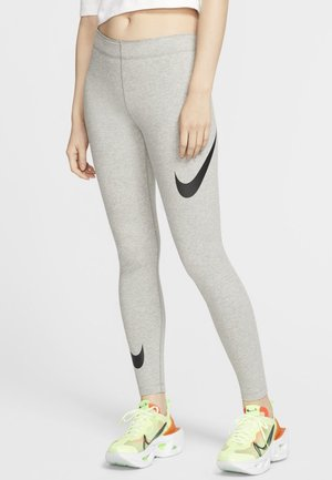 Legginsy - dark grey heather/black