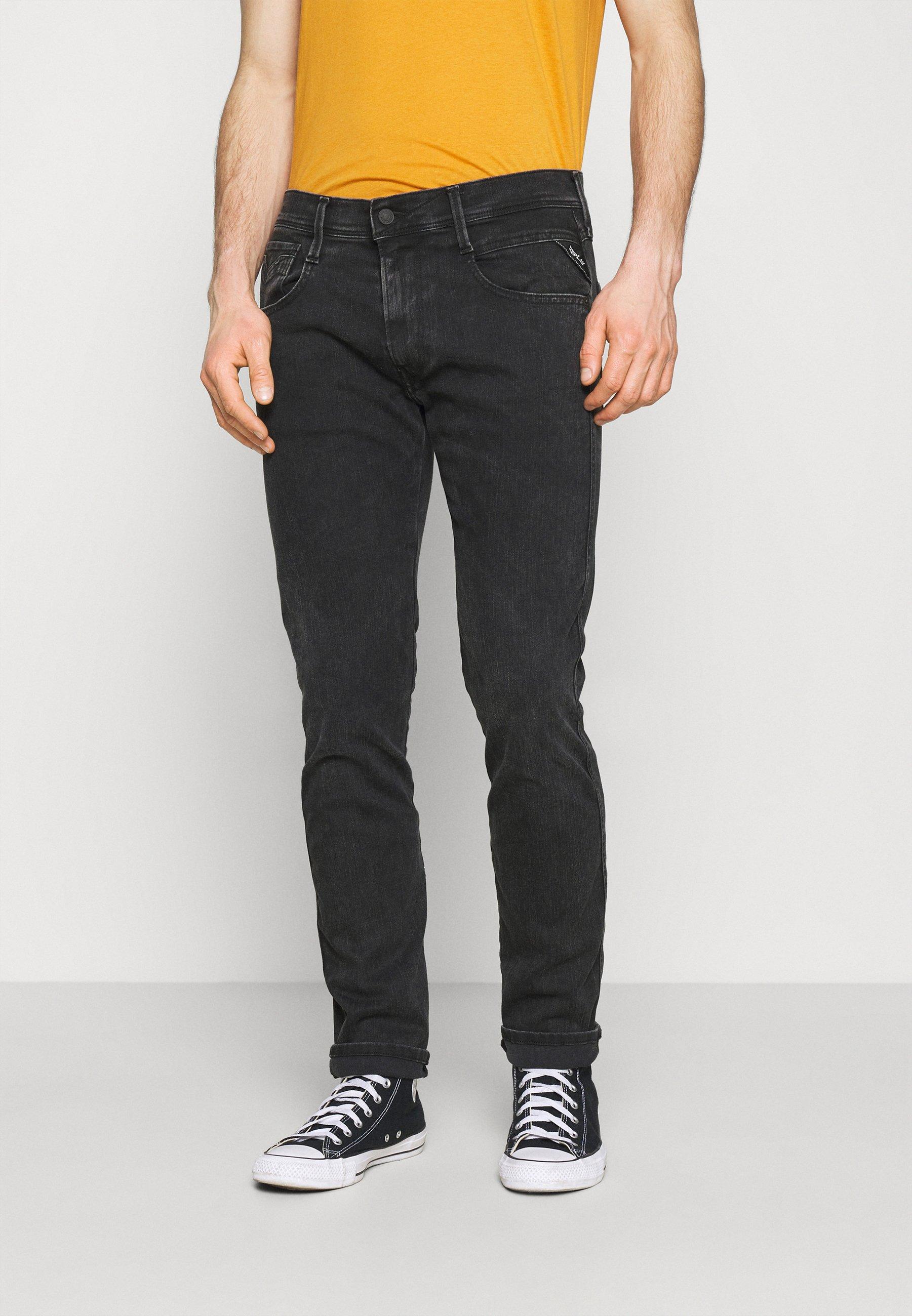 Men ANBASS HYPERFLEX REUSED - Slim fit jeans