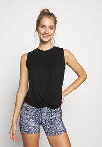 Yogasearcher - TWIST - Topper - deep black - 0