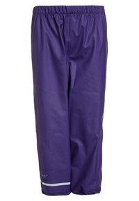 CeLaVi - RAINWEAR SUIT BASIC SET WITH FLEECE LINING - Rain trousers - purple - 3