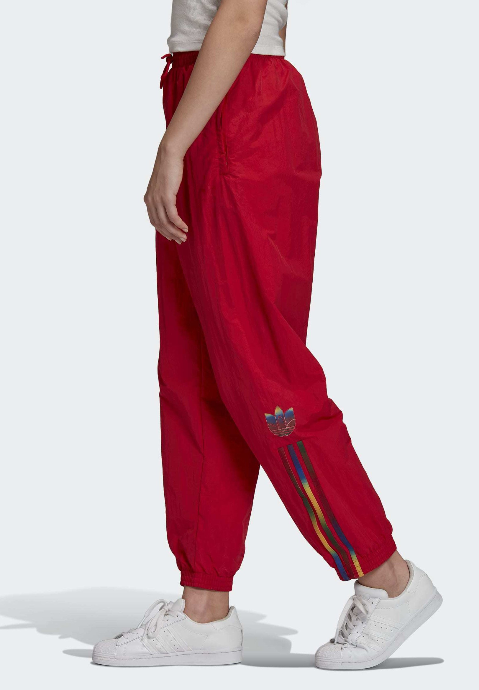 PAOLINA RUSSO ADICOLOR SPORTS INSPIRED MID RISE PANTS - Trainingsbroek -  scarlet