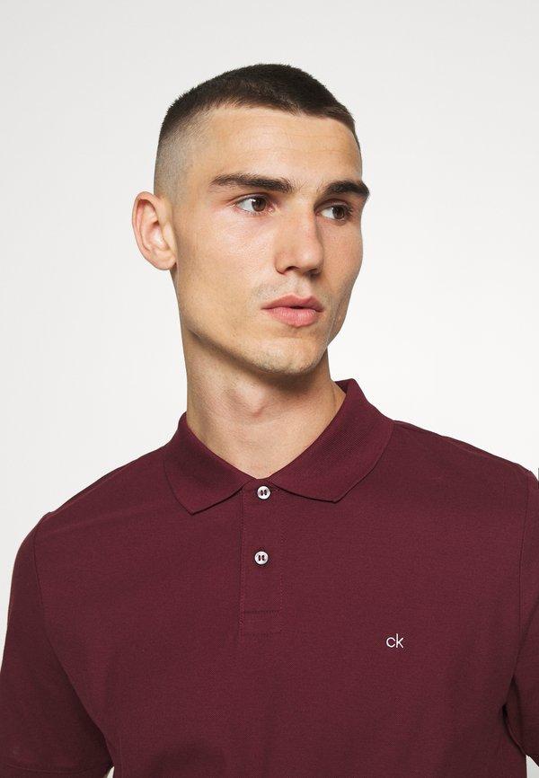 Calvin Klein REFINED LOGO SLIM - Koszulka polo - bordeaux/bordowy Odzież Męska BLTO