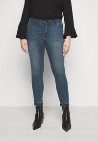 Vero Moda Curve - VMSEVEN  - Jeans Skinny Fit - dark blue denim - 0