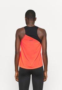 ASICS - TOKYO TANK - Sports shirt - performance black/flash coral - 2