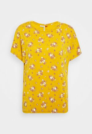 PECORI - Print T-shirt - yellow