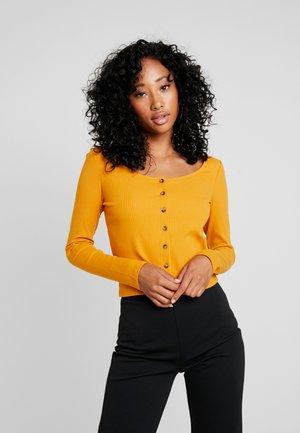 QUEEN - Cardigan - yellow dark