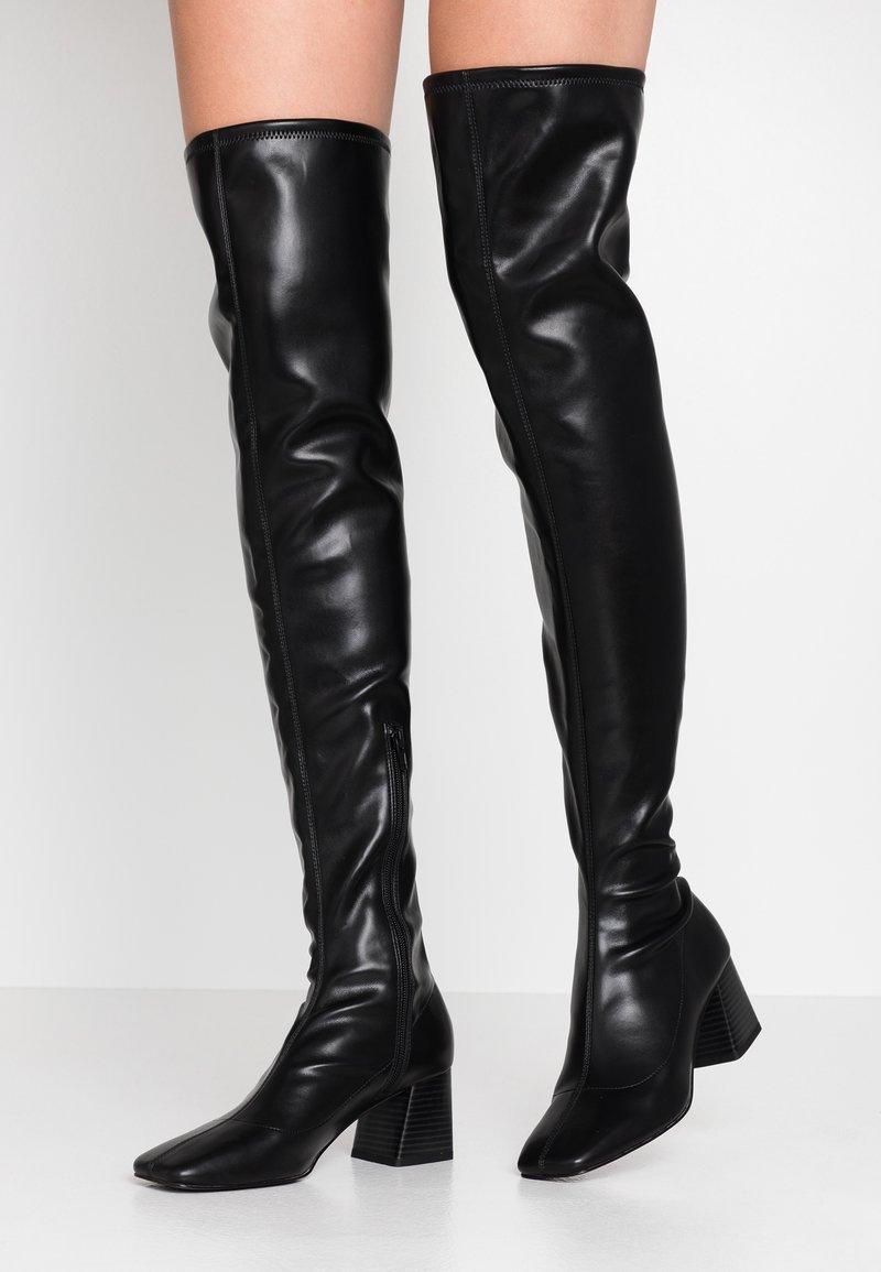 Monki - ARIANNE BOOT - Overknee laarzen - black