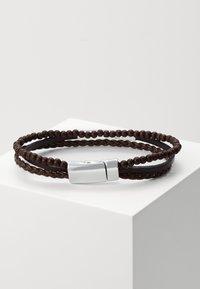 Burton Menswear London - 3 ROW BALL - Bracelet - brown - 1