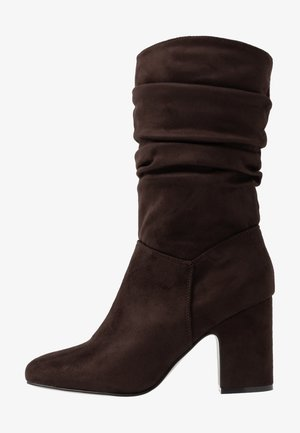 KIND RUCHED 3/4 BOOT - Boots - chocolate