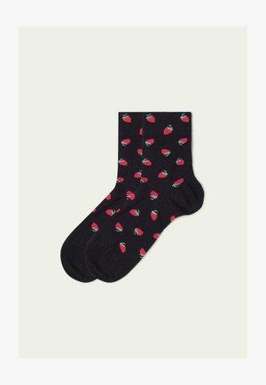 Socks - allover fragole nero