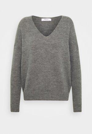 FEMME V NECK - Jumper - steel gray