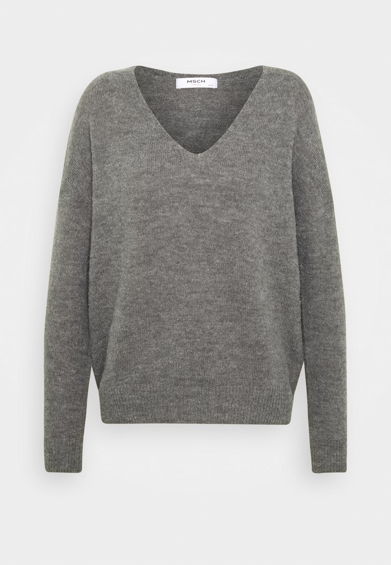 Moss Copenhagen - FEMME V NECK - Jumper - steel gray